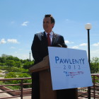 Tim Pawlenty speaks in Des Moines