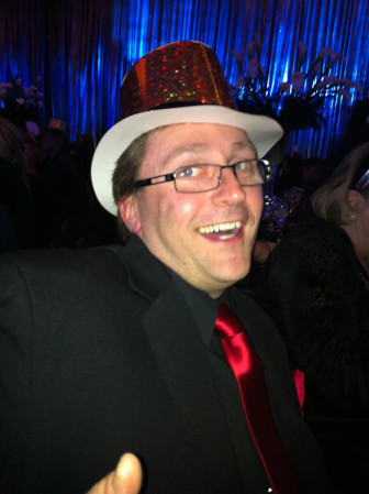 Jason Andersen, at the Golden Nugget Hotel & Casino in Las Vegas during a New Year's party on Dec. 31, 2011, well after Budcat closed. (Photo courtesy of Jason Andersen)