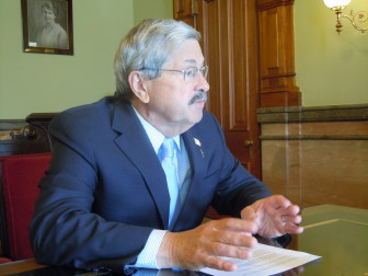 Gov. Terry Branstad in an interview with IowaWatch on July 2, 2013 in the Iowa Statehouse in Des Moines.