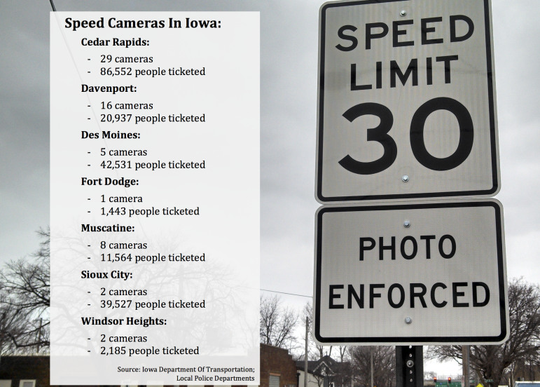 The number of cameras is measured in the number of approaches monitored, which shows the number of lanes or directions monitored by a distinct camera unit. Often, one intersection can have more than one camera unit.