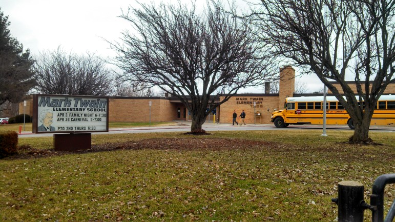 Mark Twain Elementary School in Iowa City, is shown on April 4. The school was placed on lockdown Feb. 12.