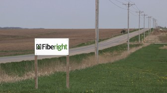 The Fiberight sign outside its ethanol plant just outside of Blairstown, Iowa, in this May 4, 2014, photo.