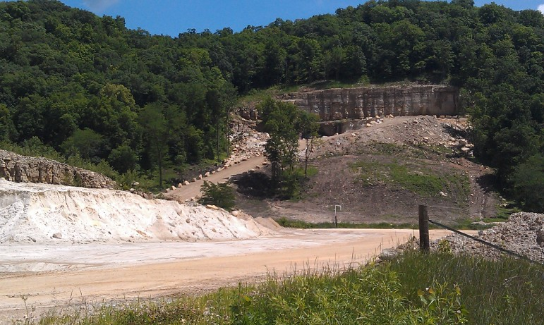 An entrance on the west end of a Pattison Sand Company mine in rural Clayton County, Iowa, near the small town of Clayton, on June 24, 2014. Pattison, which produces industrial sand for the natural gas and oil industries, has about 35 acres of underground mine and 300 acres above ground for plant operations, shipping and storage, ponding and drying, maintenance, a fabrication shop, reclamation areas and an open pit mine.