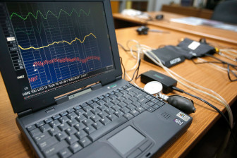The results of a polygraph are shown at the Sixth Judicial District's Johnson County Office in Coralville on Monday, Aug. 11, 2014.