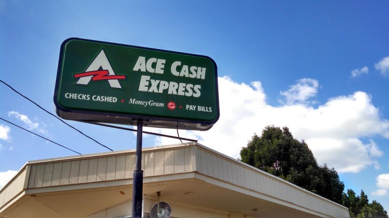 ACE Cash Express, 1900 Carpenter Ave. in Des Moines, is shown on August 12. ACE Cash Express was fined $10 million by the Consumer Financial Protection Bureau in July for illegal debt collection tactics.