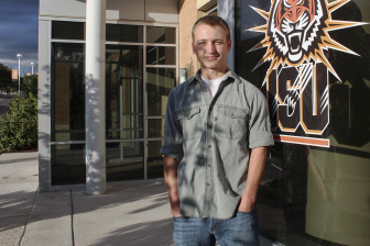 Derek Sommer, 23, an Idaho State University student, used to leave his gun locked in his car when he went to class. A new law allows him to carry his handgun concealed while he is on campus.
