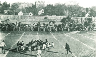 University of Iowa Football Game, 1900.