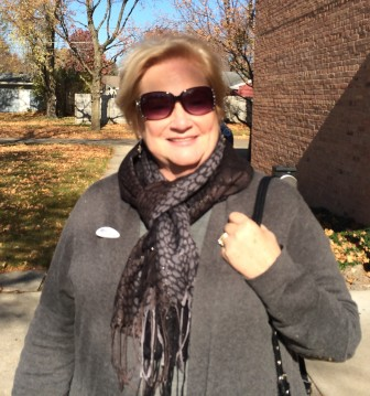 Linda Doyle, after voting in Ames in the Nov. 4, 2014, general election.