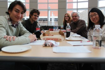 IowaWatch team in late 2011 with co-founder Stephen Berry at the University of Iowa.