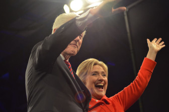 Hillary Clinton brought star power to the Oct. 24, 2015, Jefferson-Jackson Dinner in Des Moines: her husband and former President Bill Clinton (pictured here) and pop star Katy Perry.