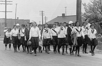 A group of Camp Fire girls in the 1920s.