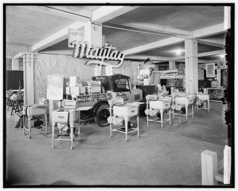 A Maytag Company display during an industrial exposition in 1926.