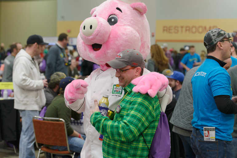 All sorts of characters show up at the annual Blue Ribbon Bacon Festival in Des Moines. This photo was taken at last year's festival on Jan. 31, 2015.