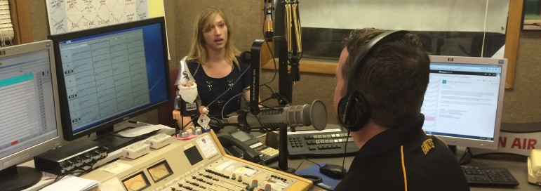 Makayla Tendall, an IowaWatch 2015 summer intern, spoke on KXIC radio in July about her story on Gov. Terry Branstad's plans to address mental health care. Tendall is also involved in the college media project.