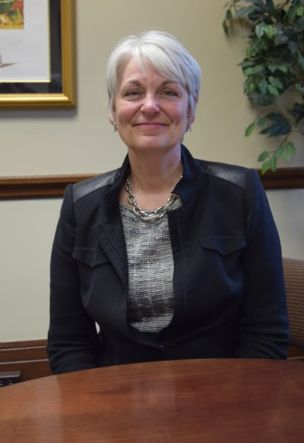 Laurie M. Hamen, Mount Mercy University president, in her office in March 2016.