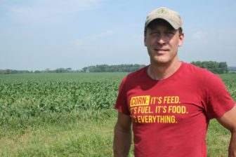 Chad Ingels at his corn, soy and hog farmer in Fayette County, Iowa.