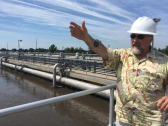 Tim Wilkey, superintendent of the Iowa City Wastewater Treatment plant, describes that plant's treatment process to IowaWatch on June 24, 2016.