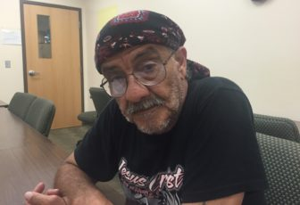 Army veteran David Turnbow at Iowa City Shelter House on June 22, 2016, where he was able to move forward from being homeless.